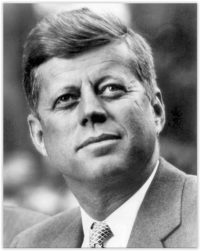 memorable INTJ USA president John F. Kennedy