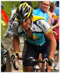 Famous bicyclist Lance Armstrong